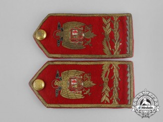 A Set of Spanish Army General's Shoulder Board Pair