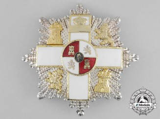 A Spanish Order of Military Merit; 2nd Class Breast Star King Juan Carlos (1975-2014)