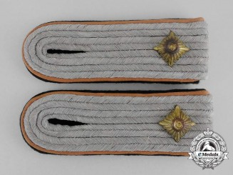 A Set of Waffen-SS Reconnaissance Obersturmführer Rank Shoulder Boards