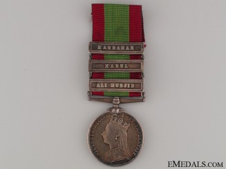 Afghanistan Medal 1880 - 4th Goorkha Regiment