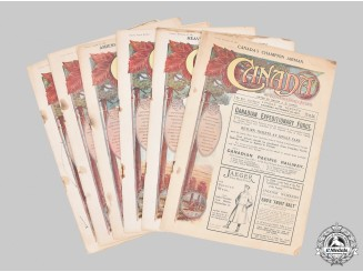 "Canada, CEF. A Lot of Six First War ""Canada - An Illustrated Weekly Journal"" Newspapers, c. 1917-1918"