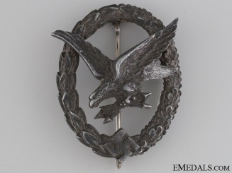 A Luftwaffe Air Gunner & Radio Operator Badge by W. Deumer