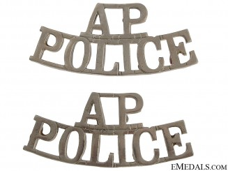 Alberta Provincial Police Shoulder Badges