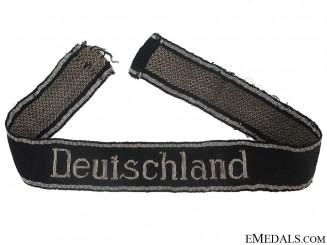 """Waffen-SS Deutschland  Flatwire Officer""""¢¯s Cufftitle"""