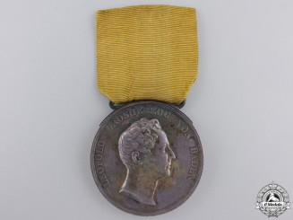 An 1830–1852 Baden Silver Civil Merit Medal