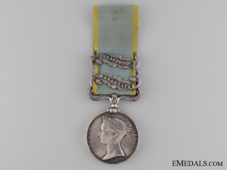 An 1854 Crimea Medal to the Royal Marines
