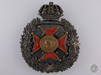 An 1870 2nd Regiment Queen's Own Rifles Helmet Plate