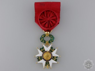 France, Republic. A Legion D'Honneur, Officers Cross in Gold, c.1875