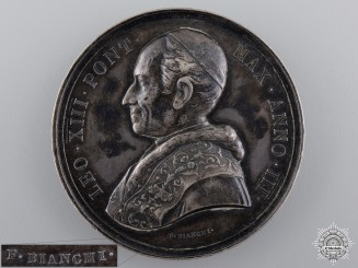 Vatican, State. A Pope Leo XIII Medal, by F.Bianchi, c.1882