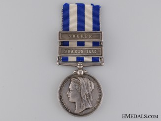 An 1882-1889 Egypt Medal to the Royal Marine Light Infantry