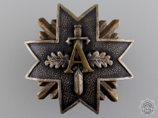 An 1919-40 Latvian Military Badge