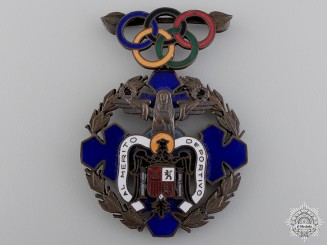 An 1940 Spanish Olympic Committee Merit Award
