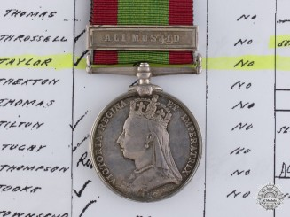 An Afghanistan Medal 1878-1880 to the 17th Leicestershire Regiment