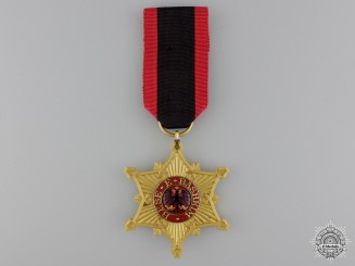Albania, Italian Protectorate. An Order of the Black Eagle, Officer's Badge, c.1930