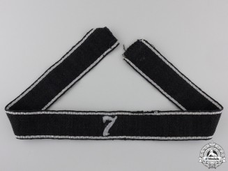 An Allgemeine-SS 7th Standarte Officer's Cufftitle