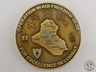 An American 26th Infantry Operation Iraqi Freedom Excellence in Combat Medal
