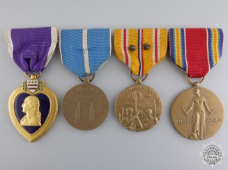 An American Second War and Korea Medal Group
