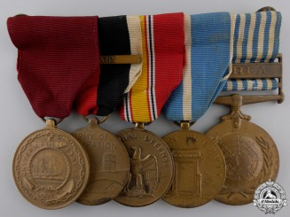An American Second War & Korea Service Medal Bar