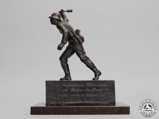 An Army (Heer) German Infantry Soldier Statue