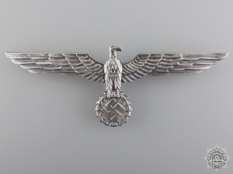 An Army Breast Eagle; Silvered Tombac