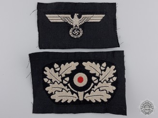 "An Army Eagle & ""Kokarde"" for a Panzer Beret"