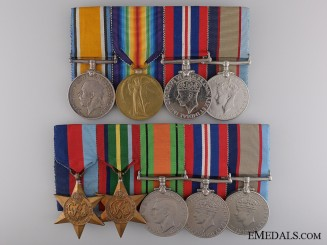 An Australian Father & Son Second War Medal Bar Pair