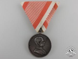 An Austrian Bravery Medal; 2nd Class Silver Grade