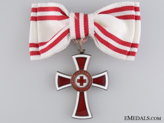 An Austrian Honour Decoration of the Red Cross; 2nd Class for Ladies