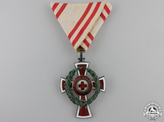 An Austrian Honour Decoration of the Red Cross; 2nd Class with War Decoration