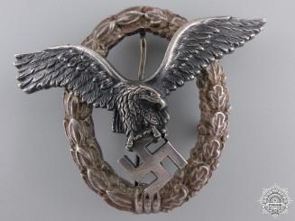 An Austrian Made Pilot's Badge by Brüder Schneider A.G Wien