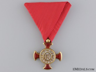 An Austrian Merit Cross 1849 in Gold by F.Braun, Vienna