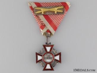 An Austrian Military Merit Cross with War Decoration