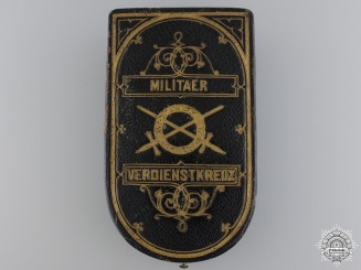 An Austrian Military Merit Cross; 3rd Class Case