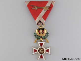 An Austrian Order of Leopold; Knight with War Decoration
