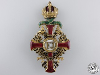 An Austrian Order of Franz Joseph; Officer's Cross by Vinc Mayer