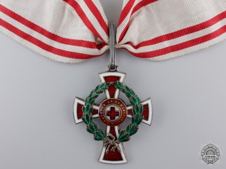 Austria, Empire. An Austrian Red Cross Decoration, First Class by Scheid