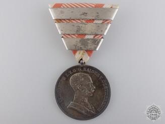 An Austrian Silver Bravery Medal; 1st Class