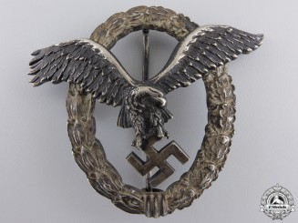 An Early Luftwaffe Pilot's Badge by C.E.Juncker  $2500