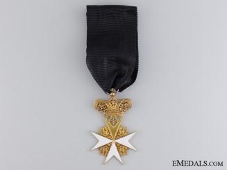 An Early Austrian Order of Saint John in Gold; C.1835