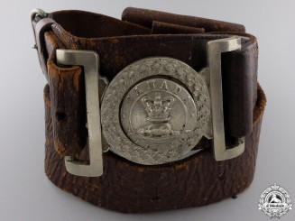An Early Canadian Militia Officer's Waist Belt