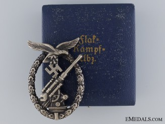 An Early Cased Luftwaffe Flak Badge by Juncker