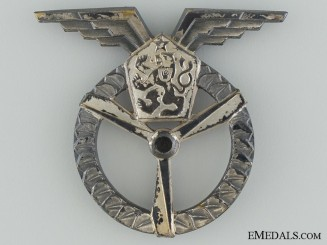 An Early Czech Socialist Flight & Ground Air Mechanic Badge