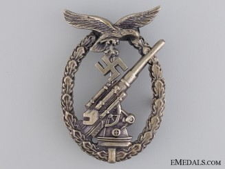 An Early Luftwaffe Flak Badge by Juncker