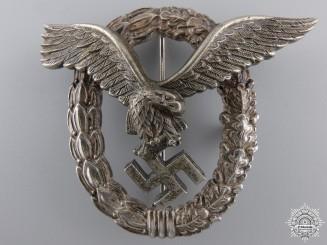 An Early Luftwaffe Pilot's Badge by Gebrder Wegerhof, Ldenscheid