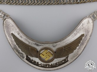 "An Early Luftwaffe Air Traffic Controller's ""REICHS-LUFT-AUFSICHT"" Gorget"