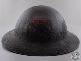 An Early Model Canadian Motor Machine Gun Helmet