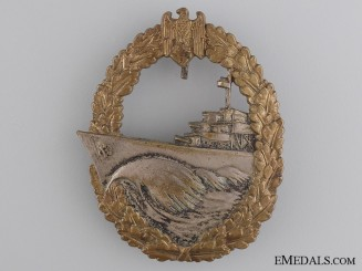 A Naval Destroyer War Badge by Gebrüder Wegerhoff