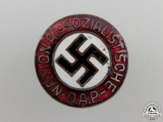 An Early NSDAP Membership Pin; Small Version