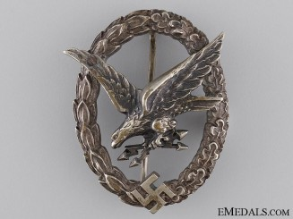 An Early Radio Operator & Air Gunner Badge by W. Deumer