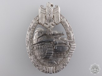 An Early Silver Grade Tank Badge by Wilhelm Deumer